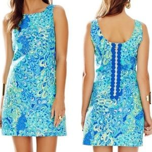 Lilly Pulitzer Cathy Shift Sea Blue Lilly's Lagoon